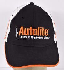 Black Autolite Spark Plugs NASCAR Flame Embroidered baseball hat cap adjustable
