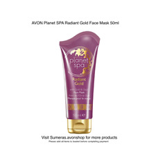AVON Planet SPA Radiant Gold Face Mask 50ml ~ With GOLD & OUD ~ Free P&P