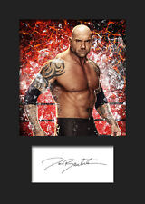 BAUTISTA #1 (WWE) Signed Photo A5 Mounted Print - FREE DELIVERY