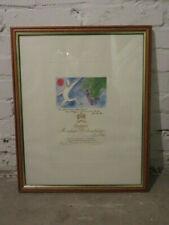 ★ CHATEAU MOUTON-ROTHSCHILD 1982 ★ Litographie im Holzrahmen ★ ca. 56 x 45 cm
