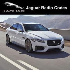 Jaguar Radio Code X S Type XF XJ X300 XK8 Security Unlock Codes Sat Nav Decode