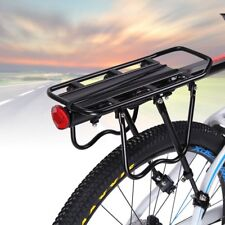 Universal Bike Rear Luggage Rack Carrier Pannier with Reflector Black Rack Seat