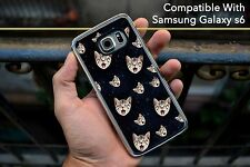 Cat Faces Space Kittens Funny Hard Case Fits Samsung Galaxy S6