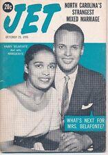 Jet Magazine 10/25/1956 Harry Belafonte & Marguerite Strange Nc mixed Marriage