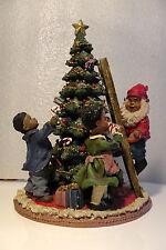 USA Deko Weihnachtsbaum Tannenbaum Weihnachtswichtel Kinder Geschenke Rot  Ø17cm