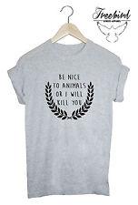 Be Nice To Animals Crest Unisex unisex animals vegan tshirt tee