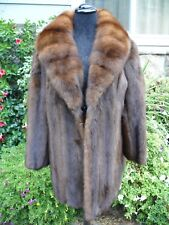 STUNNING Mink With Russian Sable Fur Stroller Coat Jacket
