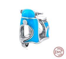 MOTO Motocicletta Charm Originale Argento Sterling 925 Si Adatta a Bracciale Europeo