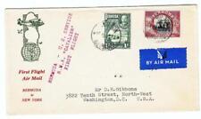 Bermuda SG#105,#103-HAMILTON 15/JUN/37-FIRST FLIGHT-Mu#-R.M.A.CAVALIE