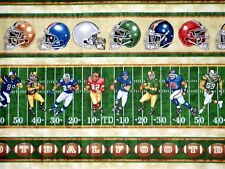 Fat Quarter Football Gridiron Fabric Quilting Treasures Cotton Nfl Game Day Fq