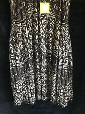 Virtuelle Ladies PLUS size 20 brown/black/cream animal print 'Kenya' skirt*BNWT