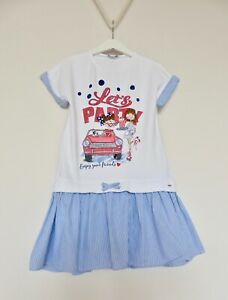 GIRLS DESIGNER MAYORAL 'LET'S PLAY' DRESS AGE 9(134) EXCELLENT CONDITION
