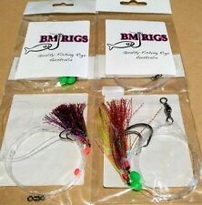 BM RIGS 4 x Whiting AND Snapper Rig VALUE PACK Fishing Rigs Flasher Circle Hooks