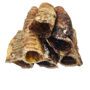 100% Natural Dog Treat and Chew Beef Moo Tubes Trachea Cut 500g Pack 5cm