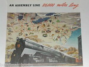 1945 Pennsylvania RR advertisement, PENNSY Locomotive  6131, 4-4-6-4 Duplex