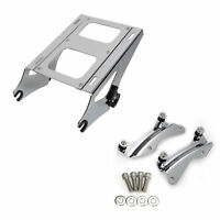 Two Up Tour Pack Mount Luggage Rack W/ Docking Hardware Kit For Harley Touring