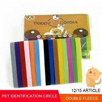 Pet Identification ID Collars Bands Whelp Puppy Kitten Pet Velvet Collar 12/Pack