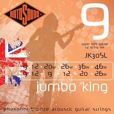 Rotosound JK30SL JumboKing Phosphor Bronze 12 String Acoustic Guitar Super Light