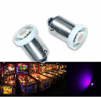 PA 30x #1893 #44 #47 #1847 BA9S 1 SMD LED Pinball Machine Light Bulb Purple 6.3V