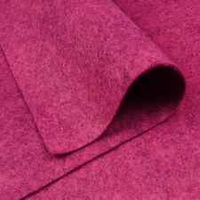 Woolfelt Ruby Pink ~ 22cm x 90cm / quilting wool felt fabric mottled heathered