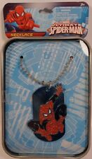 Marvel Ultimate SPIDER-MAN DOGTAG Dog Tag NECKLACE & Collector Tin NEW