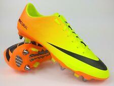 Nike Mens Rare Mercurial Vapor IX SG 555607 708 Yellow Orange Cleats Boots