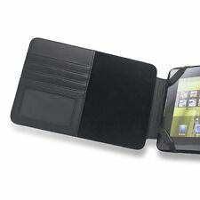 Motorola Xoom Genuine Leather Case with Slots for Business Cards & Paper - Black