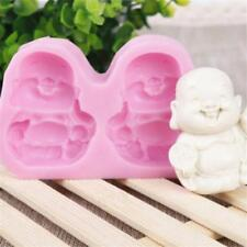 Buddha Smiling Face Silicone Soap Mold Candy Cake Chocolate Cookie DIY Mould B