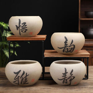 Ceramic Flower Pots Chinese Style Succulent Gardening Office House Decoration