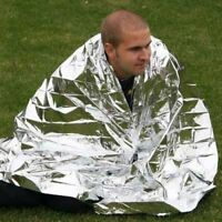 First-Aid Camp Tent Emergency Survival Space Mylar Thermal Warm Blanket Rescue
