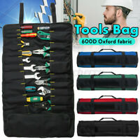 Durable Oxford Cloth Roll Up Tools Storage Bag 22 Pocket Spanner Wrench Organize