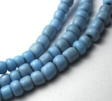 "24"" STRAND OF BEAUTIFUL SMALL BABY BLUE VINTAGE GLASS BEADS"