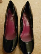 Next 4.5 Black Patent Court Shoes