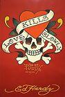 Ed Hardy Love Kills Slowly (red background) 36x24 Tattoo Art Print Poster Sku...
