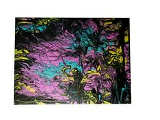 """12""""x16"""" Abstract Acrylic Paint Pour Design On Canvas Board"""