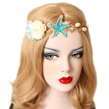 MERMAID HAIRBAND Flower Starfish Sea Shell Beach Fancy Dress Party Bridal Gift