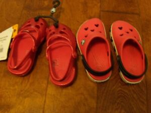 Crocs-Mary Jane size 8 The shiney ones are new with tags