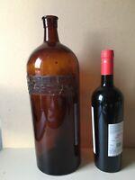 "Large Vintage Apothecary Chemist Bottles Brown Glass 39 cm 15"" 120 fl oz"