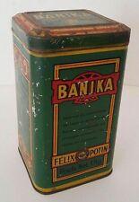 Boîte en tôle sérigraphiée début XXème Banika Félix Potin