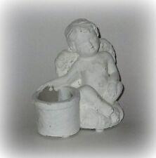 PTMD Engel mit Teelichthalter aus Steinguss 13 cm