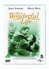 It's A Wonderful Life (DVD) Classic B&W Christmas Movie James Stewart, Donna New