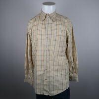 T.Harris Button Up Shirt Mens L Multicolor Long Sleeve 100% Cotton Flannel Plaid