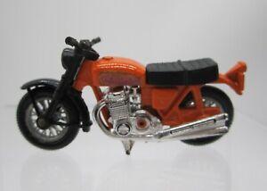 Vtg 1974 Matchbox Lesney #18 Honda Hondarora Motorcycle Orange 750 Tour Bike