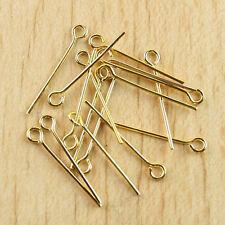 500 PCS  0.7*26mm gold-tone Eye Pin Findings Y27