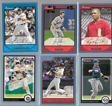 Lot of 6, 2006-2010 Bowman Blue Stars Mauer Longoria Wright All #/520 or less