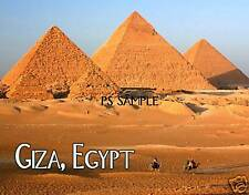 Egypt - GIZA PYRAMIDS - Travel Souvenir Fridge Magnet