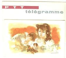 TELEGRAMME FRANCE NEUF AVEC ENVELOPPE THEMES NAISSANCE ANNEES 1960