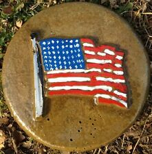 US Flag 8, stepping stone,  plastic mold, concrete mold, cement, plaster