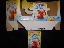 RARE Kool Aid ICE COOL LEMON ICE Original Packet Holder & drink mix