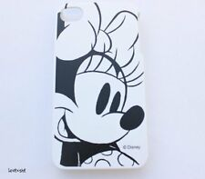 iPhone 4 4G 4S - HARD PROTECTOR CASE COVER PLATE Disney Minnie Mouse Black White
